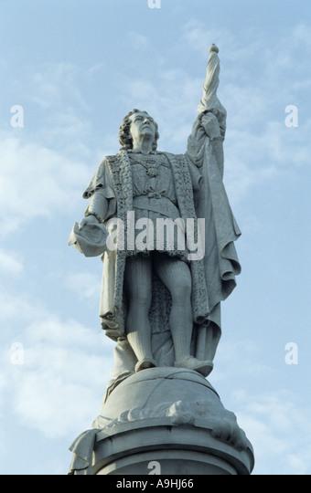 Christopher Columbus statue in Puerto Rico - Stock-Bilder