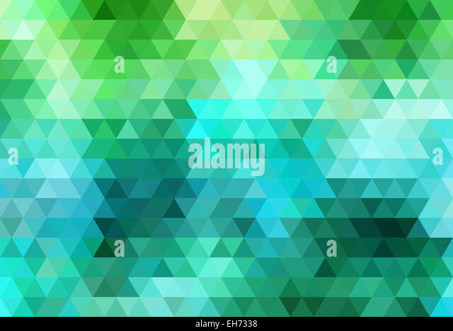 abstract colorful geometric vector background, triangle pattern - Stock Image