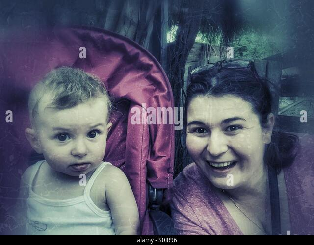 Mother and baby (daughter) - Stock Image