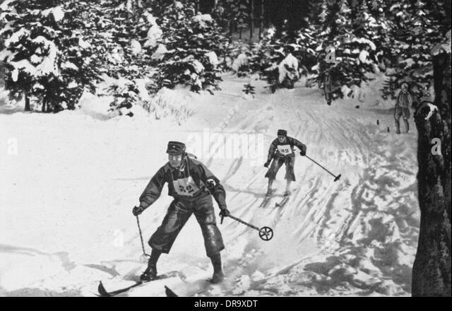 Ski Championship in Tolz - Stock Image