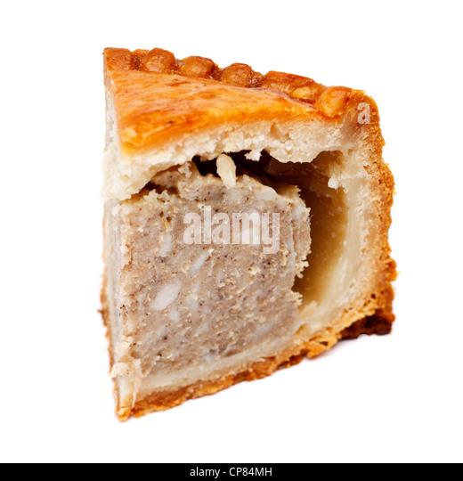 Slice of a Pork pie - Stock Image
