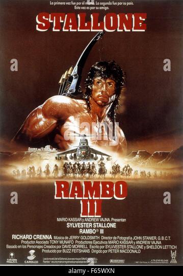 Sylvester Stallone Rambo Iii 1988 Stock Photos & Sylvester ...