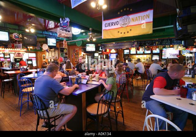 Ohio Sandusky The Thirsty Pony Restaurant dining eating food family - Stock Image