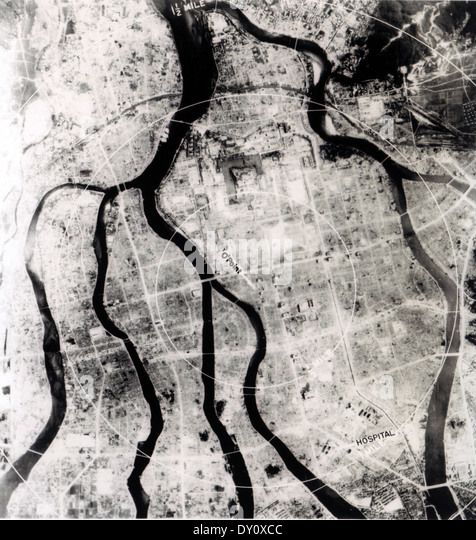 HIROSHIMA, Japan, after the atomic bomb attack on 6 August 1945 - Stock Image