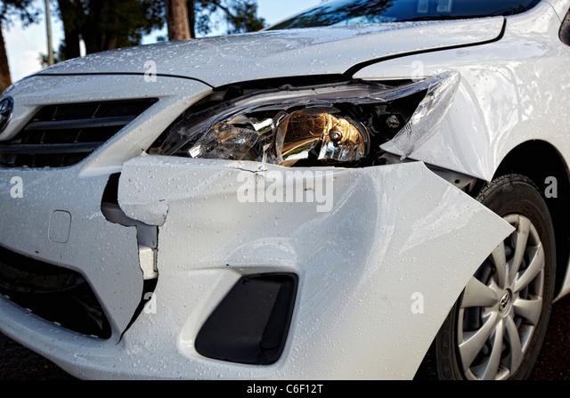 Crashed car - Stock Image