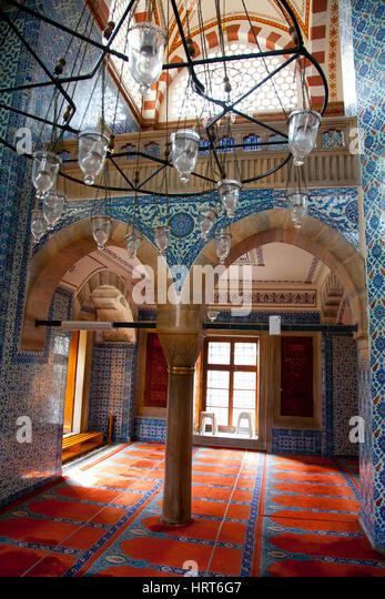 Rüstem Pasha Mosque or Rustempasa Camii. Istanbul, Turkey. - Stock Image