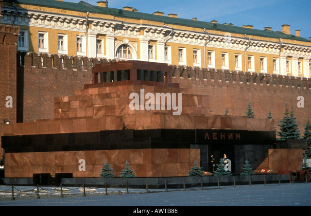 Moscow Russia Lenin Mausoleum Red Square - Stock Image