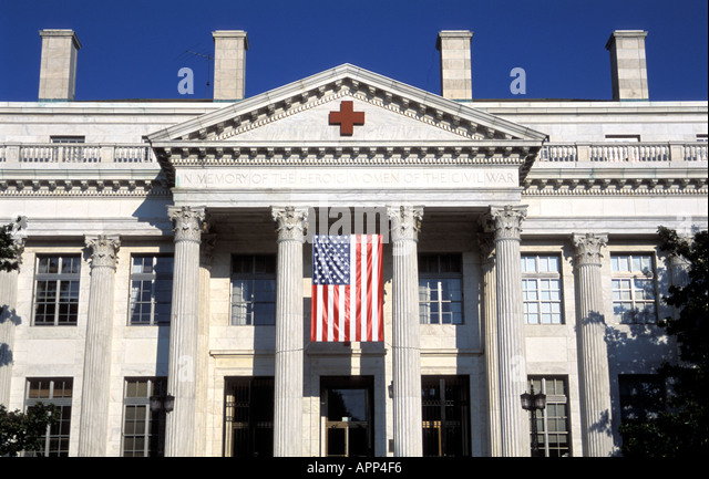 Red Cross building, Washington D.C. - Stock Image