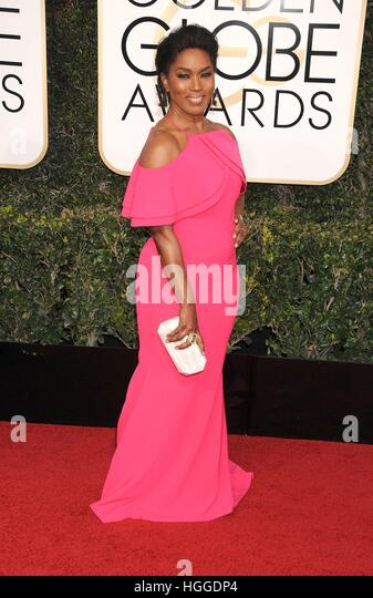 Beverly Hills, CA. 8th Jan, 2017. Angela Bassett at arrivals for 74th Annual Golden Globe Awards 2017 - Arrivals, - Stock Image