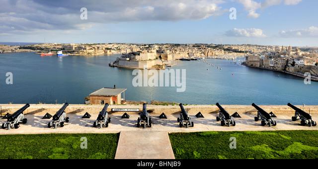 Saluting Battery, Valletta - Stock-Bilder