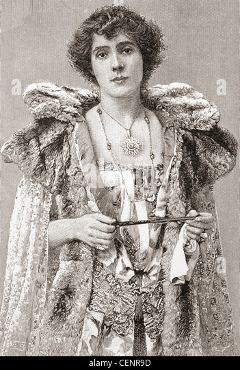 Mrs Patrick Campbell, née Beatrice Stella Tanner, 1865 – 1940. British stage actress. - Stock Image
