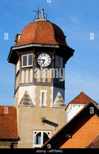 Warsash Clock Tower, Southampton, Hampshire, England, UK - Stock-Bilder