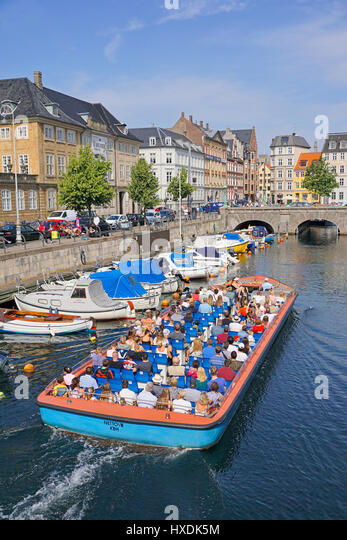 Tourist cruise on Copenhagen cana. - Stock Image