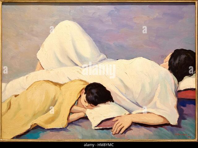 'Motherhood', 1979, Horacio Longas, Museo de Antioquia, Medellin, Antioquia, Colombia - Stock Image