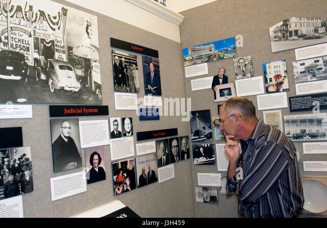 Miami Beach Florida Jewish Museum of Florida exhibit Mosaic photographs history immigration community identity education - Stock Image