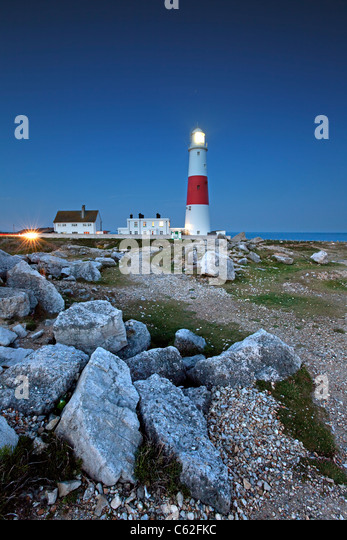 Portland Bill Lighthouse, Dorset. - Stock Image