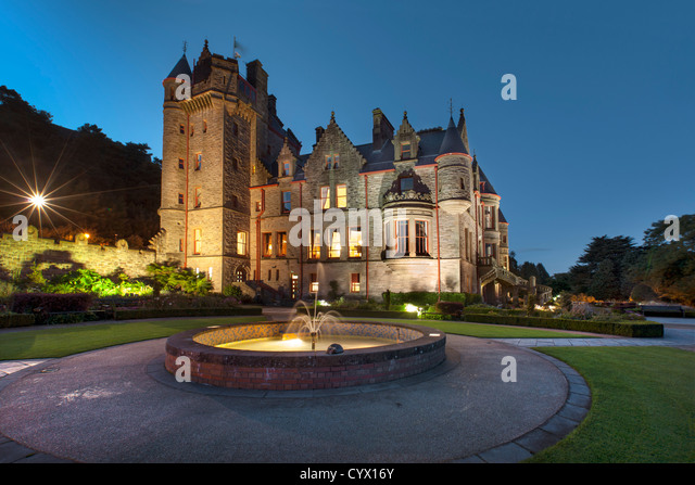 Night capture of Belfast Castle, Northern Ireland. - Stock-Bilder