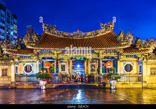Longshan Temple in Taipei, Taiwan. - Stock Image