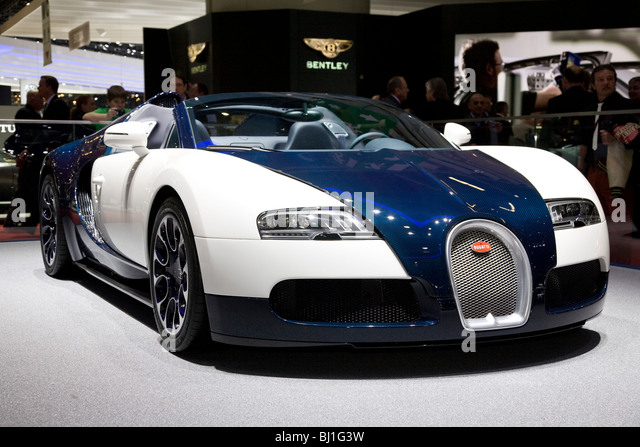 Bugati Veron 16.4 Grand Sport at a motor show - Stock Image