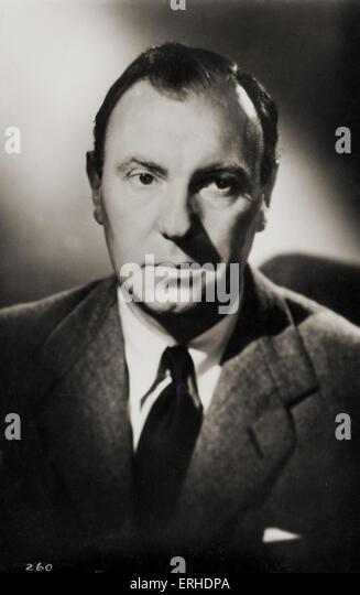 Ralph Richardson, portrait. English actor, 1902 - 1983 - Stock-Bilder
