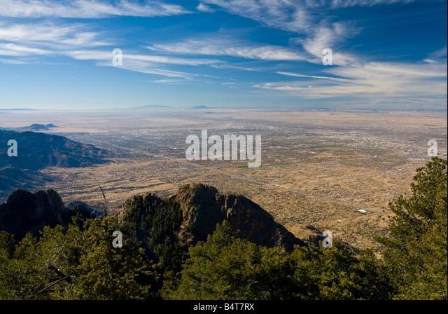USA, New Mexico, Albuquerque from Sandia Mountains - Stock Image