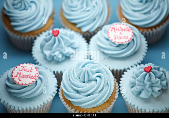 Cupcakes arranged for a party or a wedding reception - Stock Image