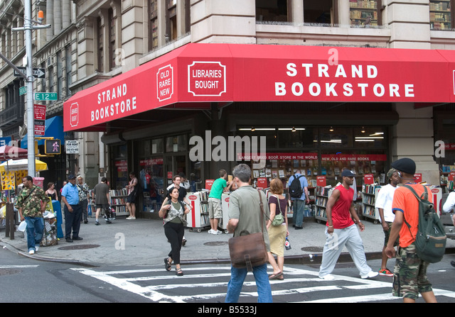 The Strand Bookstore at 12th St and Broadway in New York City is possibly the most famous used bookstore in the - Stock Image