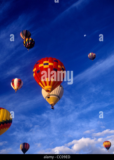Hot Air Balloons at a festival in California. - Stock Image