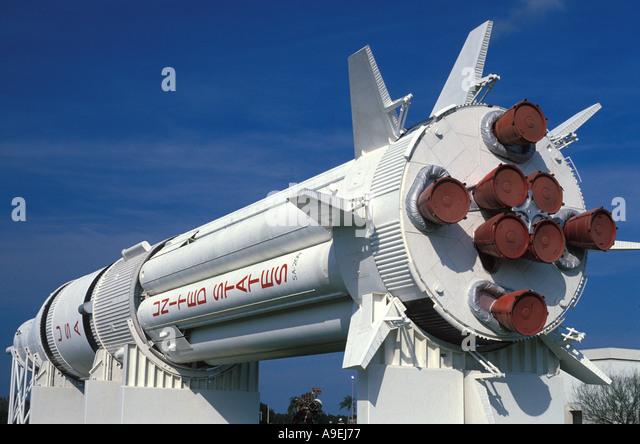 Florida Kennedy Space Center rocket display - Stock Image