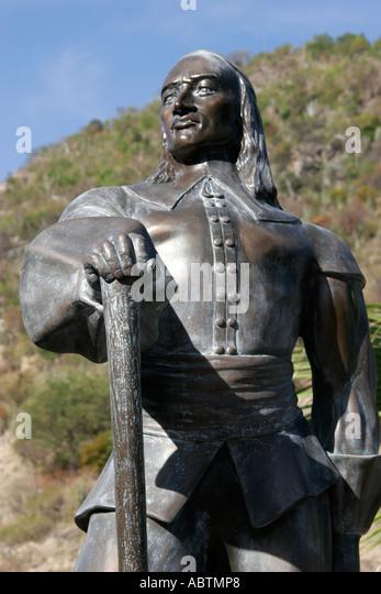 Sint Maarten Dutch Philipsburg Pieter Stuyvesant statue early governor - Stock Image