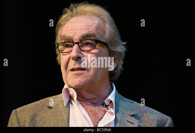 Gerald Scarfe English cartoonist and illustrator pictured speaking on stage at Hay Festival 2009 - Stock Image
