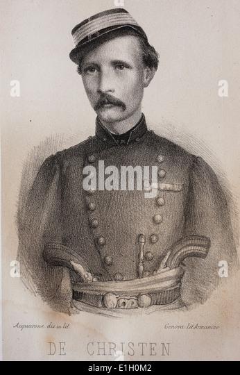 Theodule Emile de Christen (1835 - 1870). - Stock-Bilder