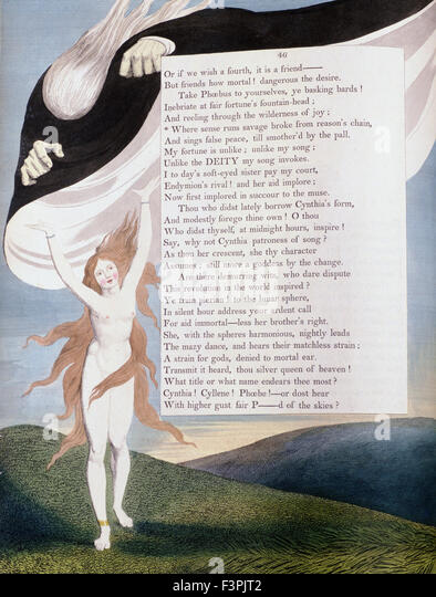 William BLake - Illustration of Page 46 from the 'Nights' of Edward Young's 'Night Thoughts' - Stock Image