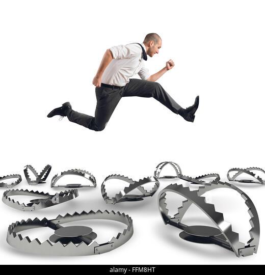 Overcome traps - Stock Image