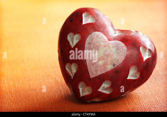 Stone heart - Stock Image