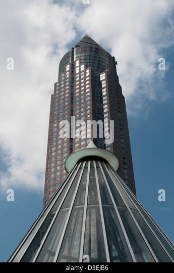 Messeturm Frankfurt am Main, Detail, Architektur, Architecture, - Stock-Bilder