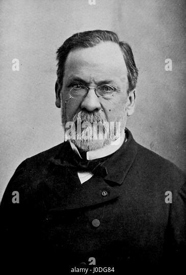 Portrait of scientist Louis Pasteur, France, 1902. - Stock Image