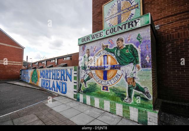 Northern ireland football team stock photos northern for Mural northern ireland