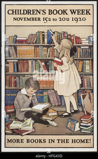 Children's book week, November 15th to 20th 1920. More books in the home! - Stock Image