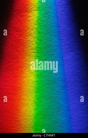 White light spectrum - Stock Image