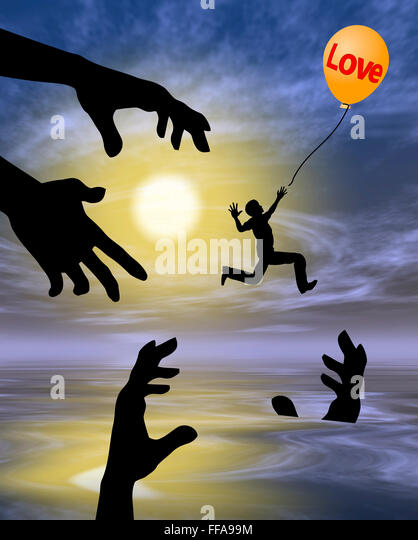 Risky Love - Stock Image