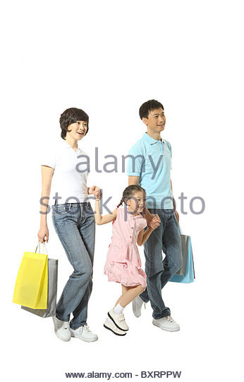 A young family is doing shopping - Stock Image