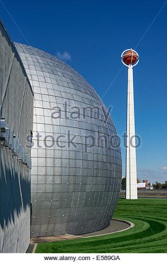Naismith Memorial Basketball Hall of Fame, Springfield, Massachusetts, USA - Stock Image
