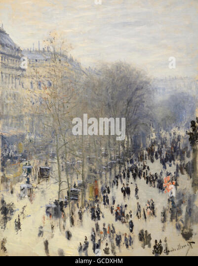 Boulevard des Capucines, 1873, Claude Monet - Stock Image