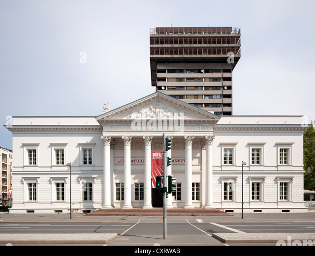 Frankfurt Literature House, former public library of Frankfurt, reconstruction, Frankfurt am Main, Hesse, PublicGround - Stock Image