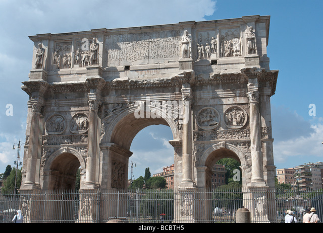 South side of the Arch of Constantine - Stock Image