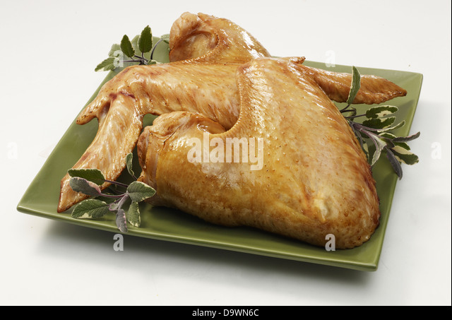 prepared turkey wings - Stock Image