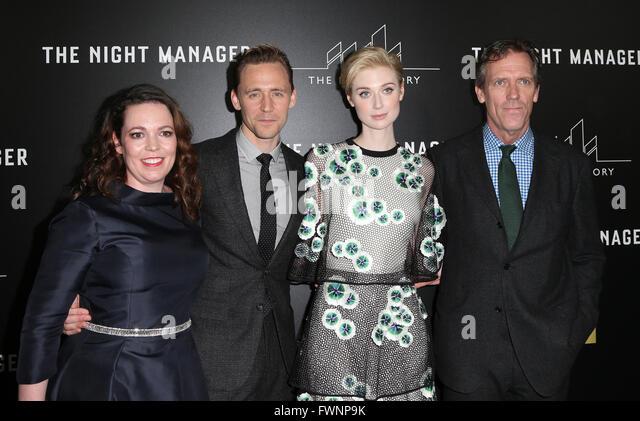 West Hollywood, CA, USA. 5th Apr, 2016. 05 April 2016 - West Hollywood, Olivia Coleman, Tom Hiddleston, Elizabeth - Stock Image