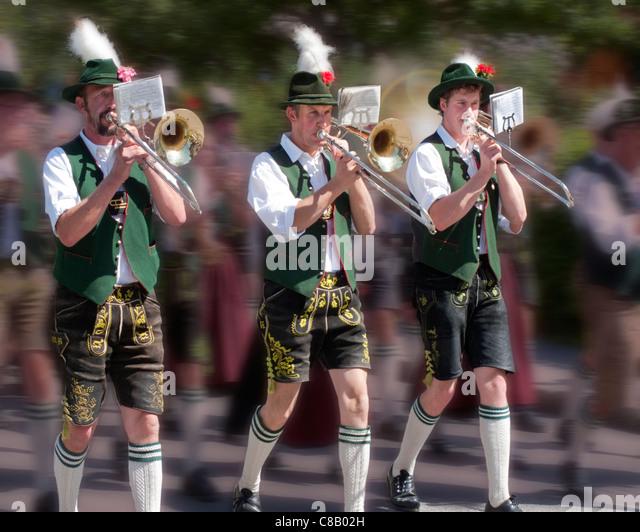 DE - BAVARIA: Traditional Bavarian Musicians - Stock-Bilder