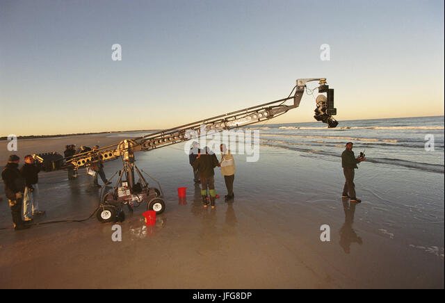 CAMERA CRANE ON LOCATION THE MANCHURIAN CANDIDATE (2004) - Stock Image